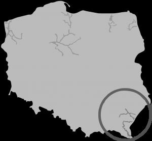 Mapa Podkarpacie